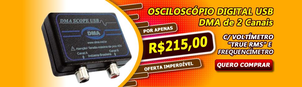 OSCILOSCOPIO USB DMA DIGITAL DOIS CANAIS