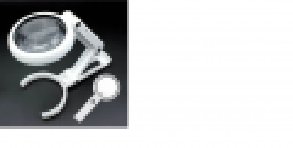 Lupa Mão Mesa Bifocal Fs75rc Com 8 Leds Alto Bilho